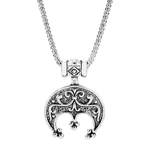 Nattaphol Hot Movie Jewelry Norse Viking Jewelry Lunula Moon Celtic Crescent Charm Necklace Slavic Pendant Necklace for Women Men-3