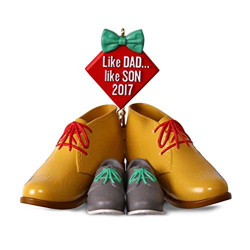 Hallmark Keepsake 2017 Dress Shoes Like Dad, Like Son Dated Christmas Ornament