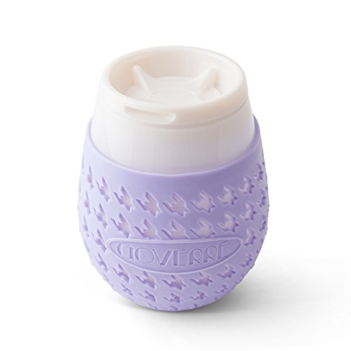 GOVERRE a GLASS: Outdoor Stemless Wine Tumbler with Lid & Protective Silicone Sleeve   Pour up to 1/2 Bottle of Wine, Seal and Go, (Housewarming, Gift, Patio, Party, Pool, Beach), Lavender by GOVERRE