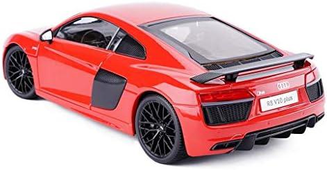 YN モデルカー レッドモデルカーアウディR8V10PLUSハードカバーバージョンカーモデル合金モデルシミュレーションモデル1:18スタティックモデルシリーズ装飾品ギフト ミニカー