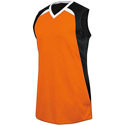 High Five Fever Jersey - Girls,Orange/Black/White,Medium