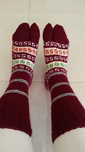 Maroon socks Handknitted socks Boho socks FREE SHIPPING ()