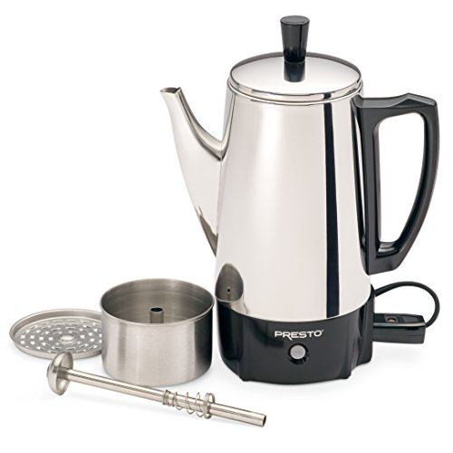 Presto 02822 6-Cup Stainless-Steel Coffee Percolator New