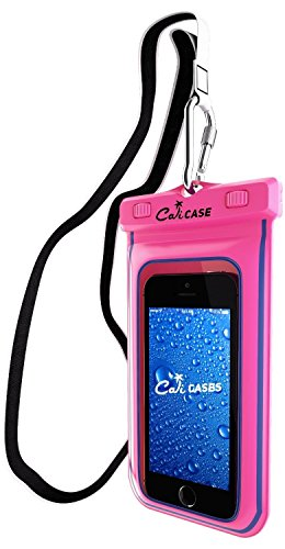 CaliCase Extra Large Waterproof Floating Case - Pink Glow in the Dark