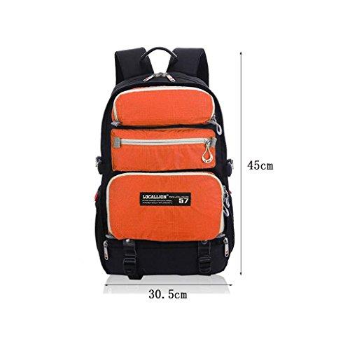 poweruk- Rucksack-Multifunktionscomputer Tasche Orange