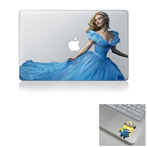 5233f880ad5f Disney Cinderella Colorful 13 inch Air Pro Cool Design Colored Black White  Macbook Sticker Decal Vinyl Skin Cover Laptop -Buy 2 Get 1 Free