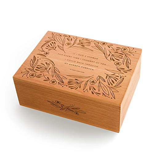 - Garden of Flowers Laser Cut Wood Keepsake Box (Valentine's Day Gift/Wedding / 5th Anniversary/Love/Heirloom/Decorative/Handmade)