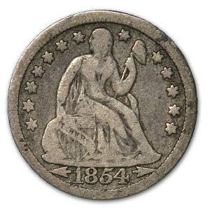 1854 Liberty Seated Dime VG Dime Very Good