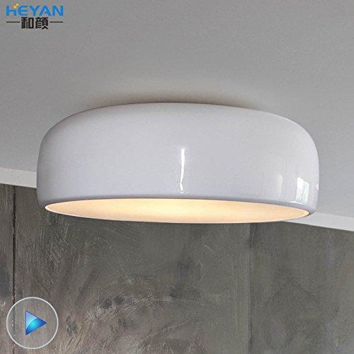 KHSKX Modernes, minimalistisches Zimmerdecke Ideen restaurant, nachdem Smith Deckenlampe Deckenleuchte weiß/schwarz , weiß 60cm +led