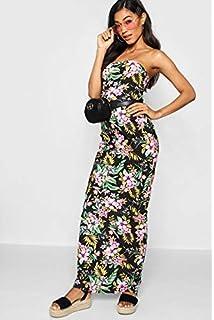 b84c919f30f9 Boohoo Cap Sleeve Jersey Bodycon MIDI Dress Black: Amazon.co.uk ...