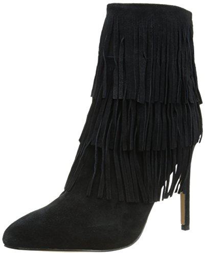 Image of Steve Madden Women's Flappper Boot, Black Suede, 9.5 M US