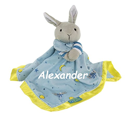 Goodnight Moon Personalized Bunny Snuggle Blanky Blanket - 17 Inches