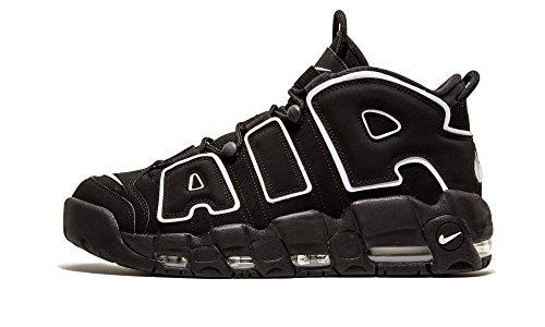 Nike Mens Air More Uptempo Black/White-Black Leather 2