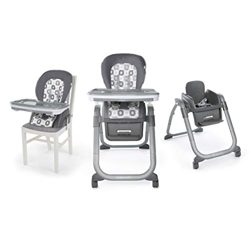 Ingenuity SmartServe 4-in-1 High Chair with Swing Out Tray - Clayton - High Chair, Toddler Chair, and Booster