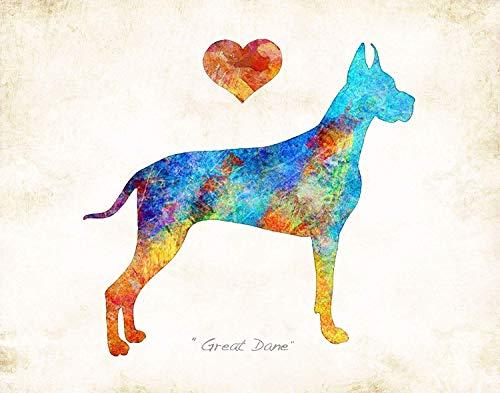 - GREAT DANE Dog Breed Art Print by Dan Morris