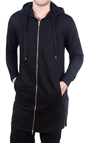 French Terry Long Fit Zip-Up Hoodie from Bleecker & Mercer
