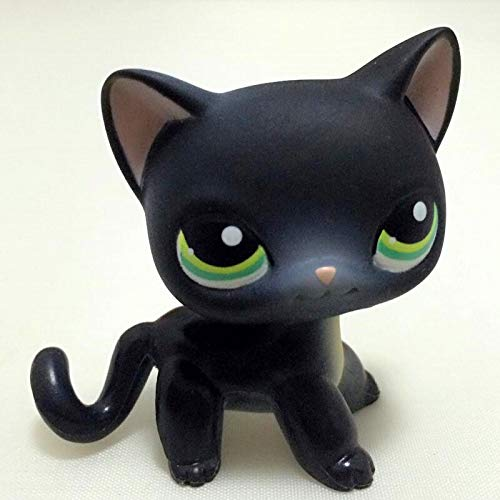 PampasSK Action & Toy Figures - lps pet Shop Variety Toys Standing Old Short Hair cat Real Rare Egyptian Grey Blue Eyes Animal Kids Collectible Gifts 1 PCs