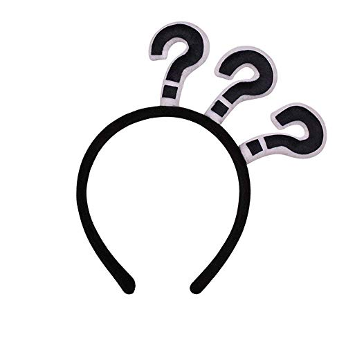 SODIAL Funny Question Mark Headband Halloween Party Spooky Cross-Head Hairband(question mark)