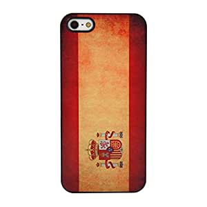 Fashionable Hard shield Case with Spain Flag tone for iPhone 5 5S