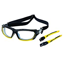 Sellstrom S70002 XPS530 Safety Glasses-Indoor/Outdoor Hard Coat Yellow and Black Standard