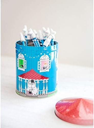 Vorratsdose Moomin House Vorratsdose mit Deckel Kaffeedose//Teedose//Bleistiftdose aus Metall 13,5 x 19 x 13,5 cm