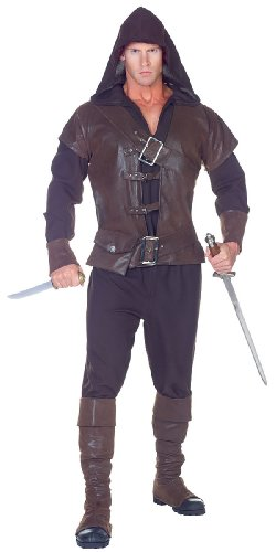 Mens Robin Hood Medieval Costume - One Size Fits (Medieval Thief Costume)