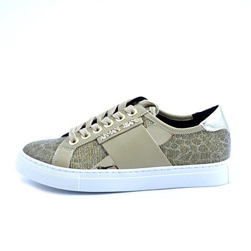 AJ Armani Jeans 925207 Sneakers Mujer Hueso