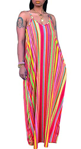 Womens Plus Size Maternity Maxi Dresses Spaghetti Strap Summer Sundress with Belts Orange