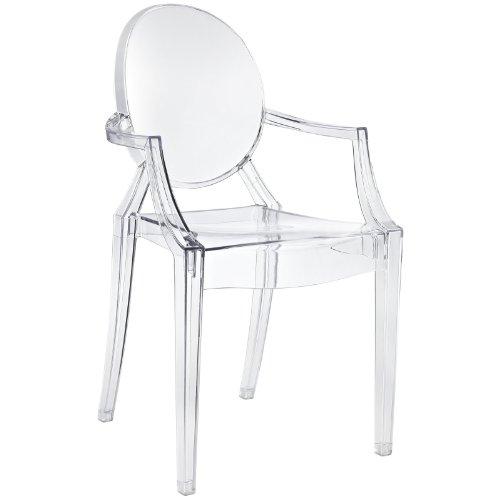 Funky Modern Baroque Armchair, Clear
