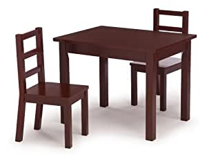 Amazon Com Tot Tutors Kids Table And Chair Set Espresso