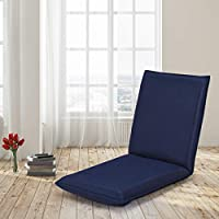 Giantex Adjustable Floor Gaming Sofa Chair Folding Lounge Recliner 6-Position Comfortable Cushioned Back Support Versatile Indoor Living Room Furniture Padded Floor Lounge Video Gaming Chair (Navy)