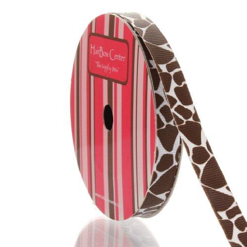 """3/8"""" Giraffe Grosgrain Ribbon 5 Yard"""