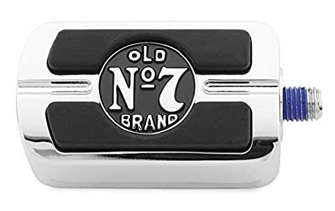 Jack Daniels 106-255 Old No.7 Shifter Pegs - Chrome with Black Logo - Old Shifters