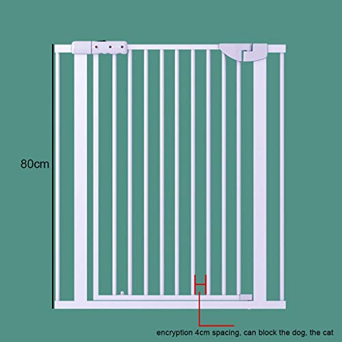 Walk Through Pet Gate with Small Pet Door, Safety Gate Metal Expandable Baby Pet Safety Gate Auto-Close with Pressure Mount, Height 80cm (Size : 125-131cm)