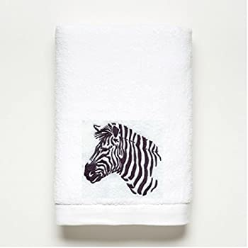 ZEBRA Embroidered Bath Towel ~ 100% Plush Cotton