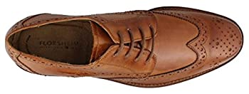 Florsheim Men's Montinaro Wingtip Dress Shoe Lace Up Oxford, Saddle Tan, 14 D Us 1