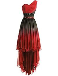 Red Ombre Chiffon Dress