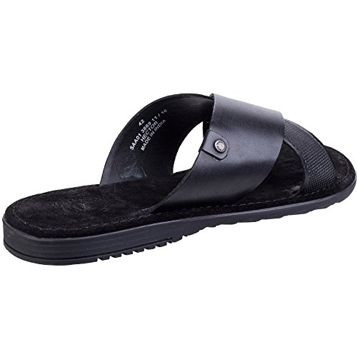 Base London Men's Hector Open Toe Sandals, Black Black