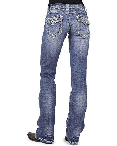 Stetson Women's 818 Rhinestone Bootcut Jeans Denim 4 R