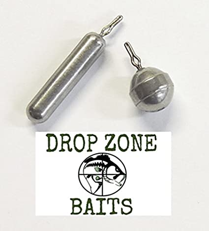 Cylinder Drop Shot Sinkers 10 Count 3//8 oz Finesse Weights