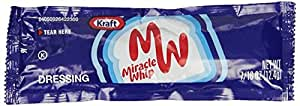 Kraft Miracle Whip Dressing Packet, Original, 12.4g, Pack of 200