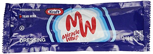Kraft Miracle Whip, .16 oz. packet, Pack of 200