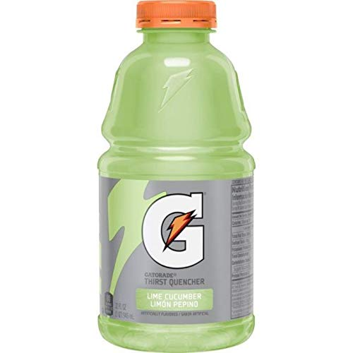Gatorade Lime Cucumber, 32 Fl Oz Bottles (Pack of 6, Total of 192 Oz) ()