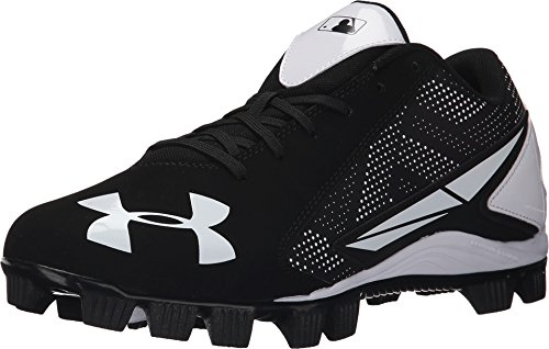 Under Armour Mens Leadoff Low Rm Molded Cleats Black/White 14