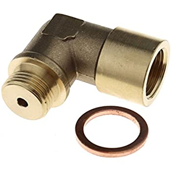 1 x Oxygen Sensor Extender O2 90 Degree Angled Bung Extension Spacer M18 1.5