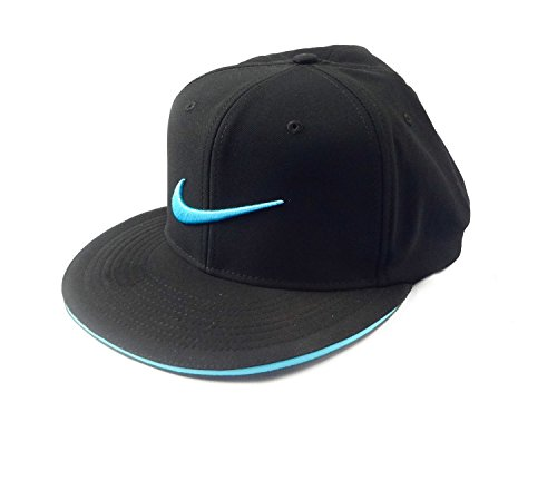 NIKE NEW Golf True Tour Black/Beta Blue Fitted Flatbill S/M Hat/Cap by NIKE