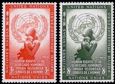- United Nations Stamps #29-30 MNH
