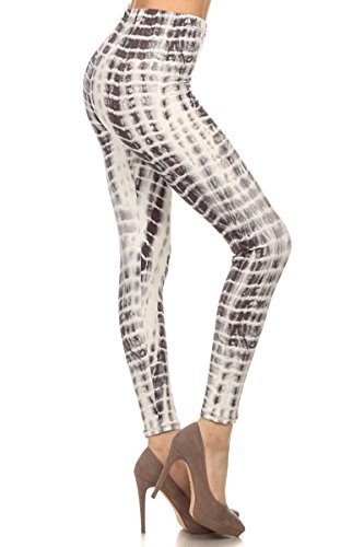 Print Leggings Brown and White Tie Dye - Brown Prints