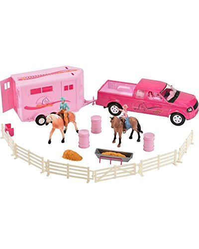truck and horse trailer toy - 8