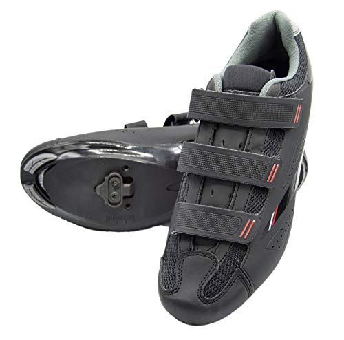 tommaso Strada 100 Dual Cleat Compatible Spin Class Ready Bike Shoe - SPD - 45 Black